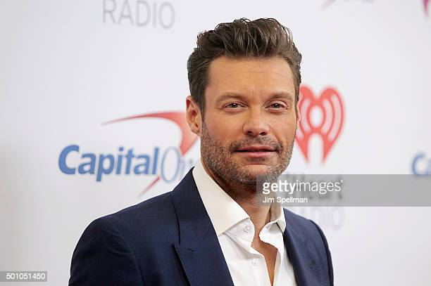 Radio personality Ryan Seacrest attends the Z100's iHeartRadio Jingle Ball 2015 at Madison Square Garden on December 11 2015 in New York City
