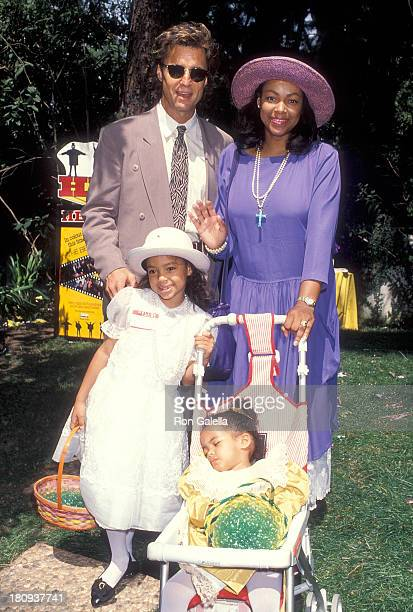 Radio personality Shadoe Stevens wife Beverly Cunningham and daughters Amber and Chyna attend Jean Casey Kasem's Second Annual Great American Wooded...