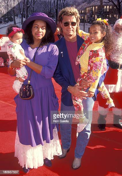 Radio personality Shadoe Stevens wife Beverly Cunningham and daughters Chyna and Amber attend Michael Bass' First Annual Holiday Party to Benefit the...