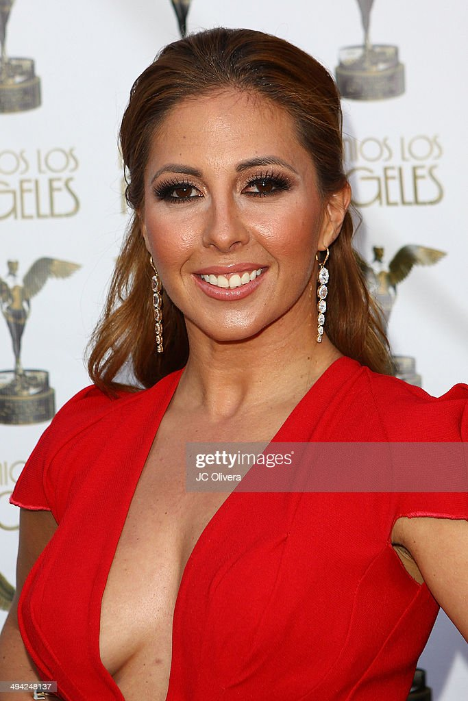 Radio personality Stephanie Himonidis arrives at Premios Los Angeles 2014 at The Theatre at Ace Hotel Downtown LA on May 28, 2014 in Los Angeles, California.