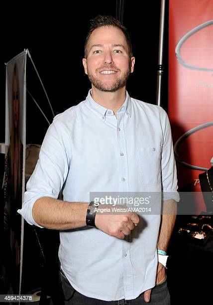 Radio personality Ted Stryker attends the 2014 American Music Awards UPS Gifting Suite at Nokia Theatre LA Live on November 22 2014 in Los Angeles...