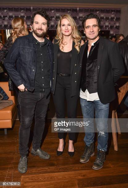 Radio Personality Tom Power Actors Tori Anderson and Allan Hawco attend the afterparty at CBC hosts world premiere of 'Caught' at TIFF Bell Lightbox...