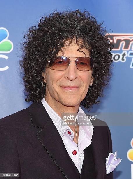 Radio personality/TV personality Howard Stern attends the 'America's Got Talent' season 10 taping at Radio City Music Hall on August 11 2015 in New...