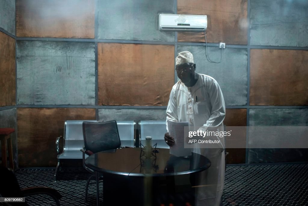 A radio presenter at the University of Maiduguri radio