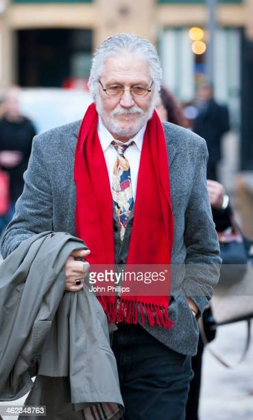 Radio presenter Dave Lee Travis arrives at Southwark Crown Court on January 13 2014 in London England Dave Lee Travis whose real name is David...