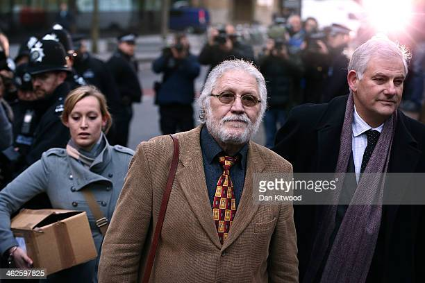 Radio presenter Dave Lee Travis arrives at Southwark Crown Court on January 14 2014 in London England Dave Lee Travis whose real name is David...