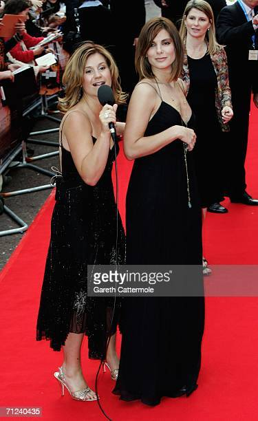 Radio presenter Harriet Scott and US actress Sandra Bullock arrive at the UK Premiere of 'The Lake House' at the Vue West End on June 19 in London...