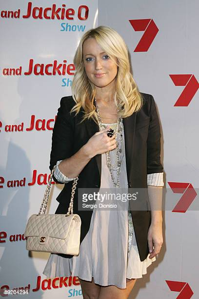 Radio presenter Jackie 'O arrives for the Home Away party at Cargo Bar on July 23 2009 in Sydney Australia