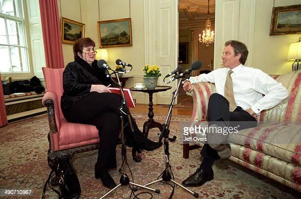 radio presenter Jenni Murray and Prime Minister Tony Blair Prime Minister Tony Blair interviewed by Jenni Murray Good Friday Agreement working women...