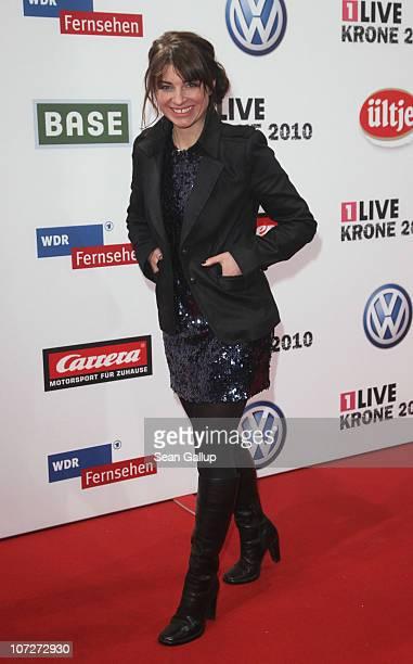 Radio presenter Sabine Heinrich attends the '1Live Krone' Music Awards at the Jahrhunderthalle on December 2 2010 in Bochum Germany