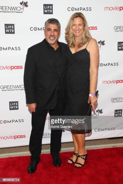 Radio producer Gary Dell'Abate and Mary Caracciolo attends the Opening Night Party for the 2018 Greenwich International Film Festival at the Boys and...