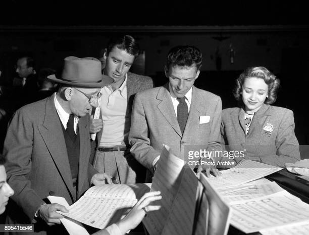 The Frank Sinatra Show Left to right Jimmy Durante and Frank Sinatra rehearse their duet The Songs Gotta Come From the Heart Image dated February 1...