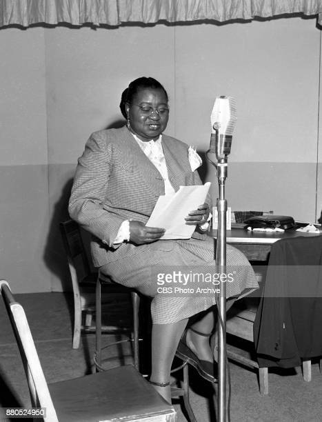 Radio program The Beulah Show Pictured is Hattie McDaniel Hollywood CA Image dated July 8 1949