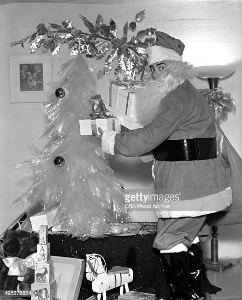 Radio program The Eddie Cantor Show sponsored by Texaco At Christmas time Eddie Cantor dresses up as Santa Claus Hollywood CA December 1 1937