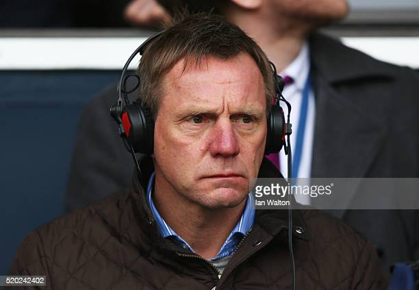 Radio pundit Stuart Pearce looks on prior to the Barclays Premier League match between Tottenham Hotspur and Manchester United at White Hart Lane on...