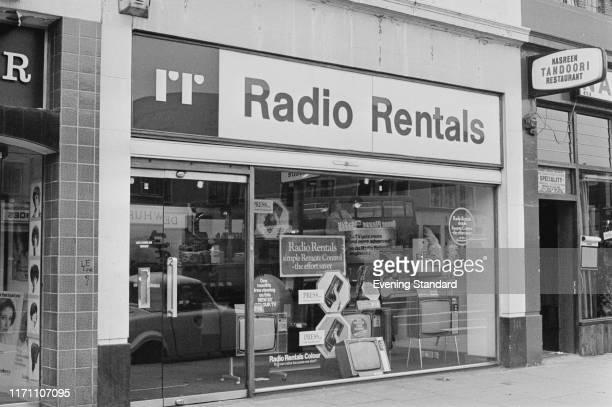 A Radio Rentals shop UK 5th October 1976