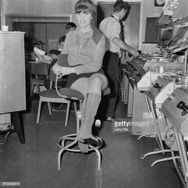 BBC radio reporter and presenter Miranda Ward the only woman working as a compere for Radio 1 UK 30th September 1967