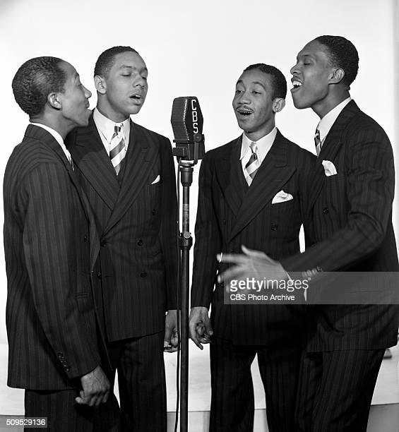 Radio singers The Deep River Boys a harmony quartet specializing in spirituals From left Edward Ware Vernon Gardner George Lawson and Harry Douglass...