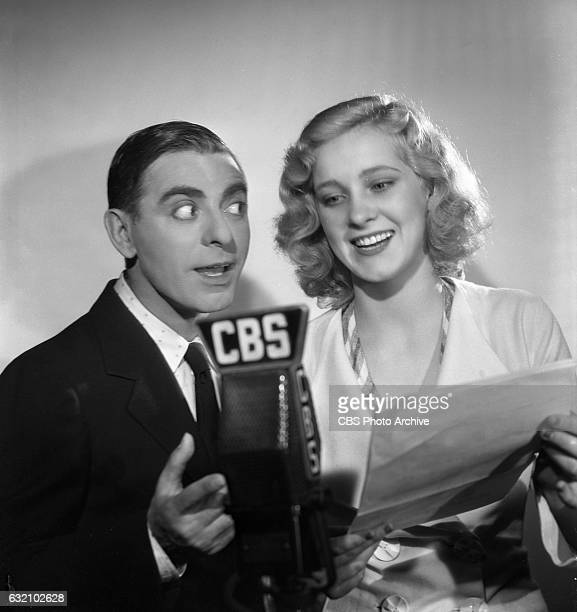 Radio star Eddie Cantor and Elaine Johnson one of the Goldwyn Girls for The Eddie Cantor Show Hollywood CA Image dated September 1 1935