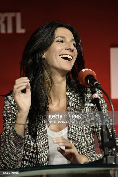 RTL radio station host Marie Drucker is pictured during her program on September 4 2014 in Paris AFP PHOTO/BERTRAND GUAY