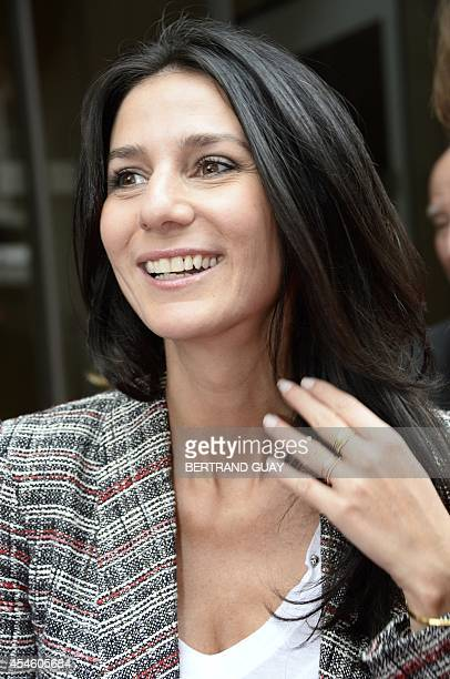 RTL radio station host Marie Drucker poses during a photocall on September 4 2014 in Paris AFP PHOTO/BERTRAND GUAY