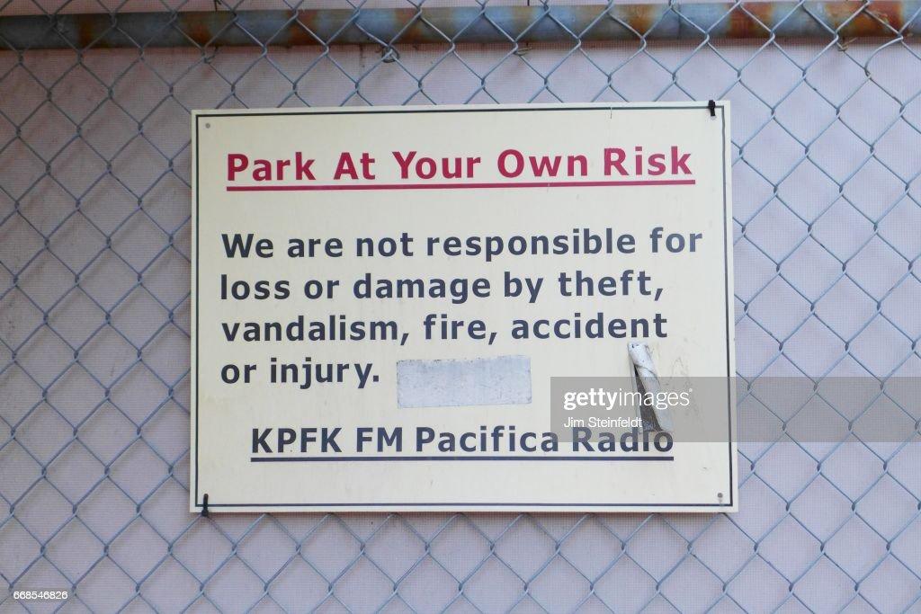Radio station KPFK in Los Angeles, California on March 26