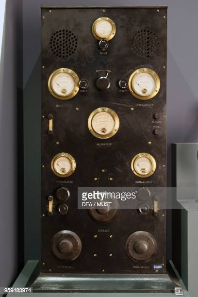 Radio station used for transmission tests created by Erminio Donner Flori detail Italy 20th century