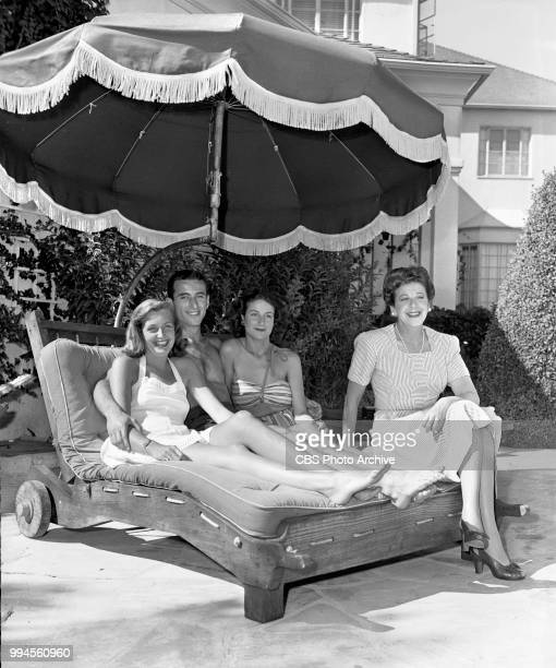 Radio talent and comedienne Fanny Brice at home From left is Shirley Brice William Brice daughter Frances Brice and Fanny Brice August 15 1944...