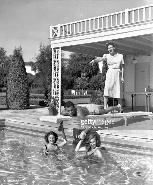 Radio talent and comedienne Fanny Brice at home With daughter Frances Brice William Brice Shirley Brice August 15 1944 Address 312 North Faring Road...
