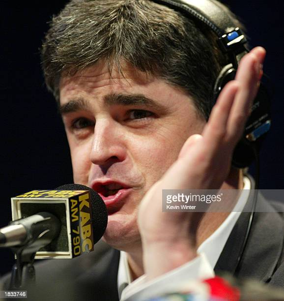 Radio talk host Sean Hannity does his show live in front of an audience as Talkradio 790 KABC presents the 'Hannitization Tour '03 Sean Hannity Live'...