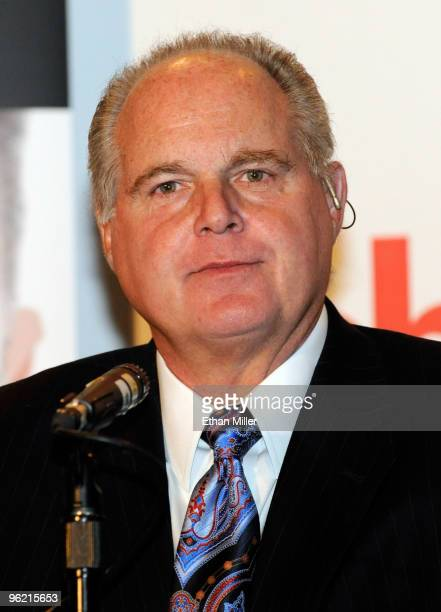 Radio talk show host and conservative commentator Rush Limbaugh one of the judges for the 2010 Miss America Pageant appears during a news conference...