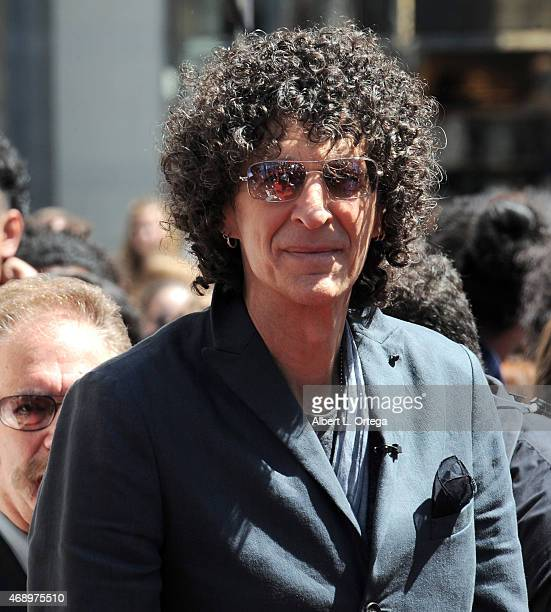 Radio Talk Show Host Howard Stern arrives for America's Got Talent Season 10 Red Carpet Event held at Dolby Theatre on April 8 2015 in Hollywood...