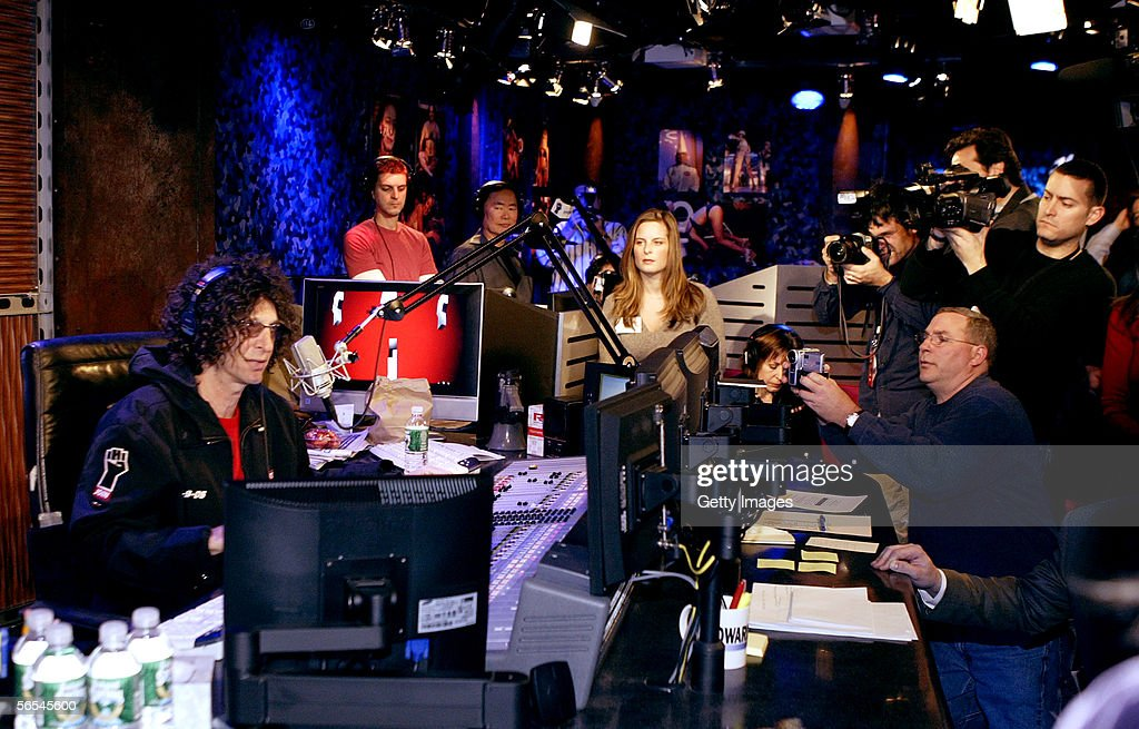 Radio talk show host Howard Stern debuts his show on Sirius Satellite Radio January 09, 2006 at the network's studios at Rockefeller Center in New York City.