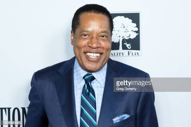 Radio Talk Show Host Larry Elder attends the Death Of A Nation Premiere at Regal Cinemas LA Live on July 31 2018 in Los Angeles California