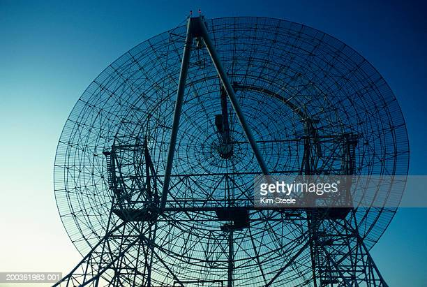 Radio telescope, close-up, low angle view