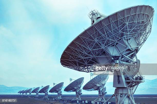 vla radio telescope - receiver stock pictures, royalty-free photos & images