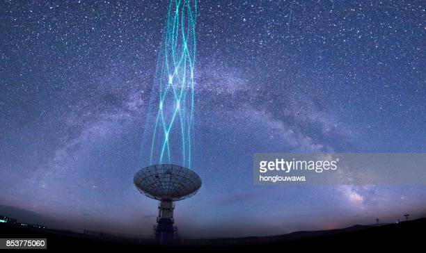 radio telescope - radio wave stock pictures, royalty-free photos & images