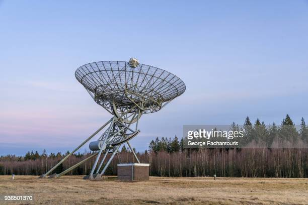 Radio telescope pointing at the sky