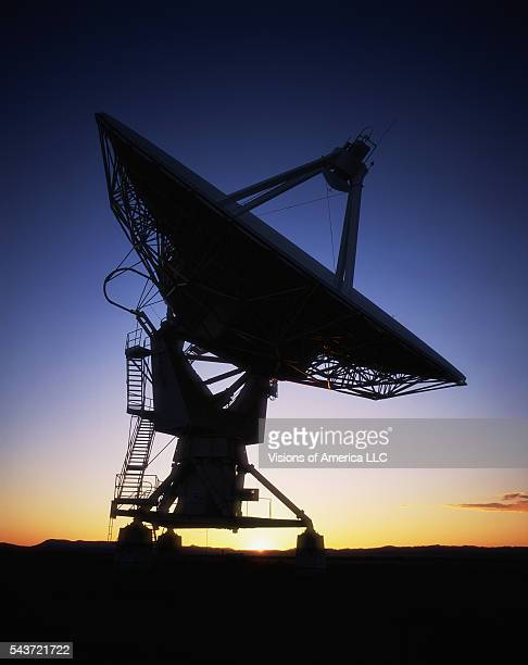 Radio telescopes comprise the composite radio telescope known as the Very Large Array at the National Radio Astronomy Observatory.