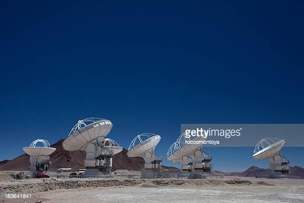 alma, radio telescopes - chile stock photos and pictures