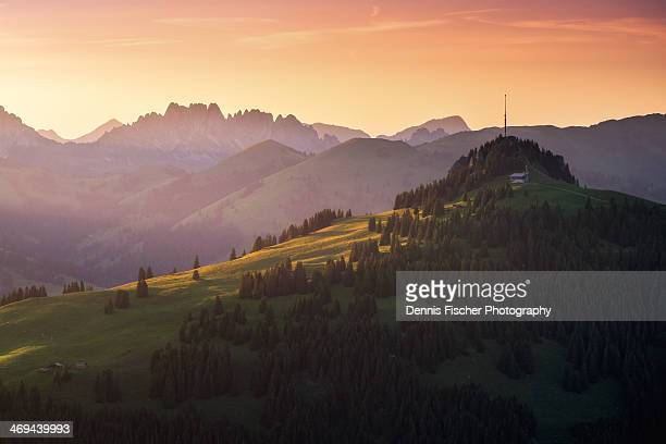 radio tower, switzerland - gstaad stock pictures, royalty-free photos & images