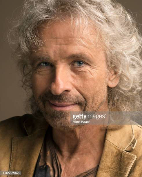 Radio, tv host, entertainer and actor Thomas Gottschalk is photographed for Sonntags Zeitung on April 14, 2015 in Munich, Germany.