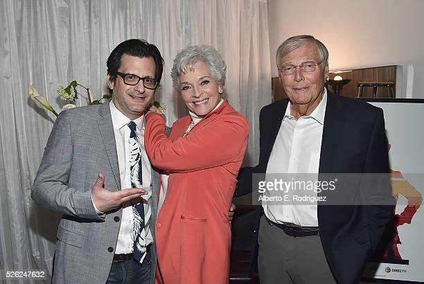 Radio TV personality Ben Mankiewicz actors Lee Meriwether and Adam West attend 'Batman The Move' during day 2 of the TCM Classic Film Festival 2016...