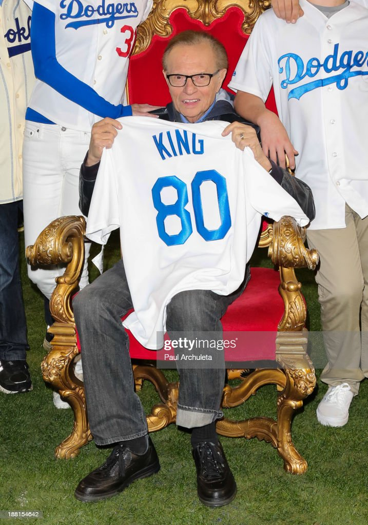 Radio / TV Personality Larry King attends a surprise party for his 80th Birthday at Dodger Stadium on November 15, 2013 in Los Angeles, California.