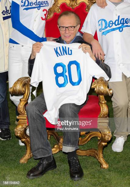 Radio / TV Personality Larry King attends a surprise party for his 80th Birthday at Dodger Stadium on November 15 2013 in Los Angeles California