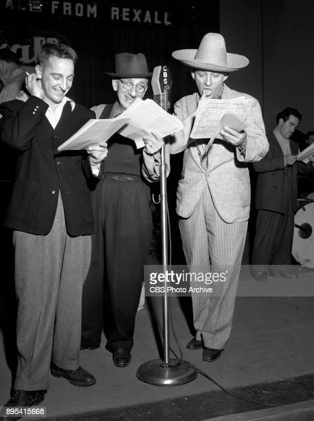Radio variety program The Moore Durante Show Comedians Garry Moore and Jimmy Durante January 12 1944 New York NY