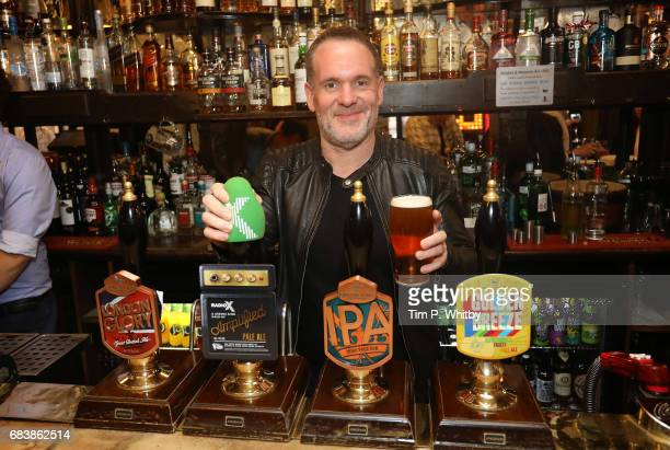 Radio X presenter Chris Moyles attends the launch of Greene King's new ale Amplified produced in partnership with Radio X at The Salisbury on May 16...