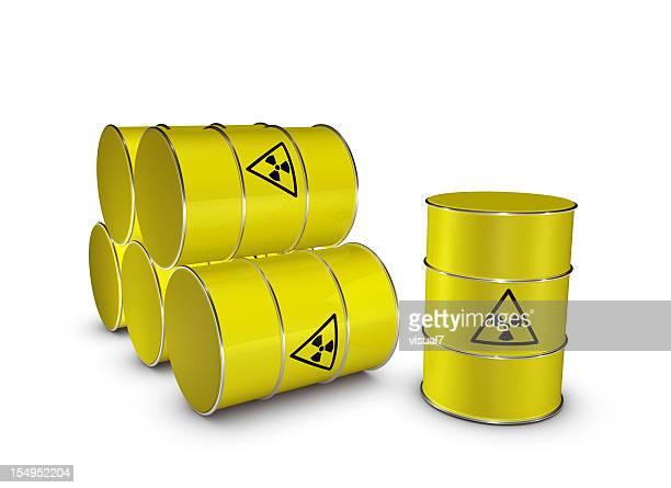 radioactive barrels - uranium stock pictures, royalty-free photos & images