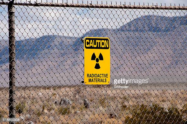 Radioactive Materials Sign at Site of First Atomic Bomb
