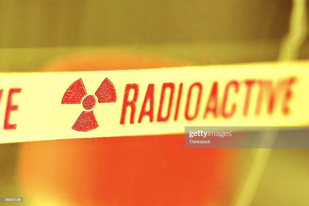 Radioactive warning label : Stock Photo